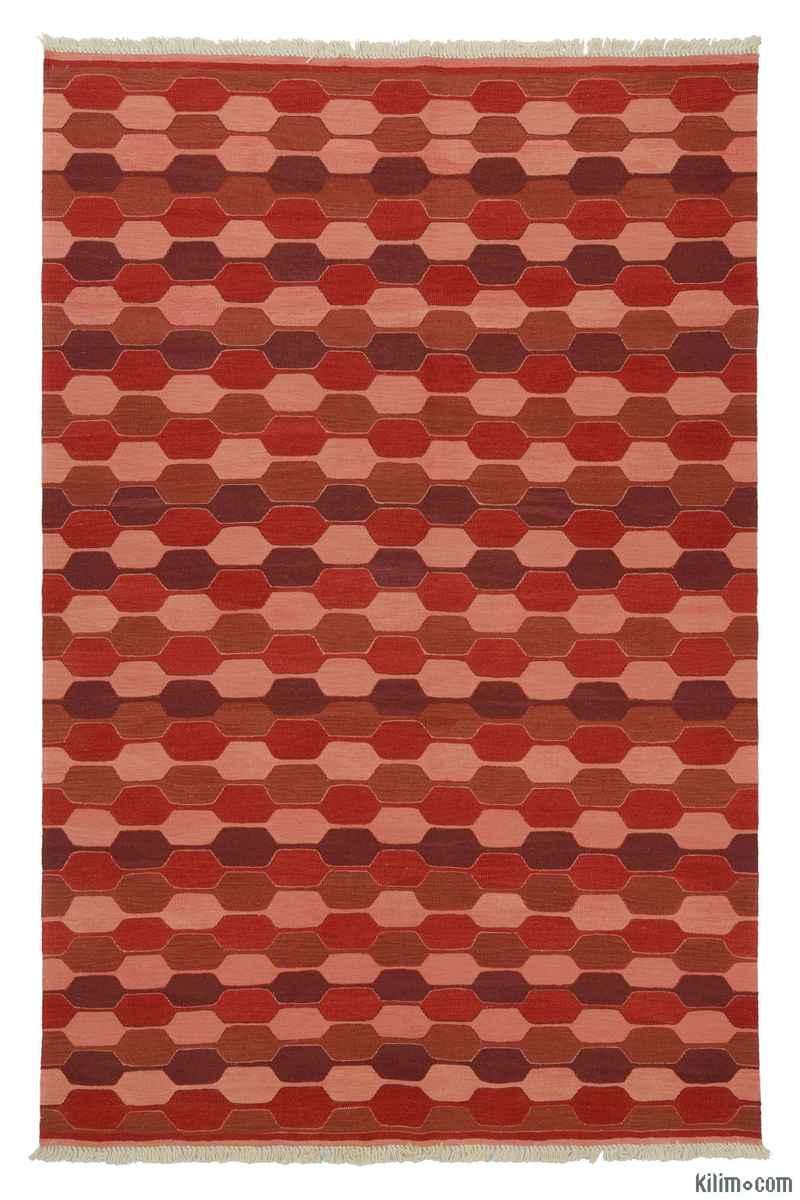 Red New Turkish Kilim - K0007920
