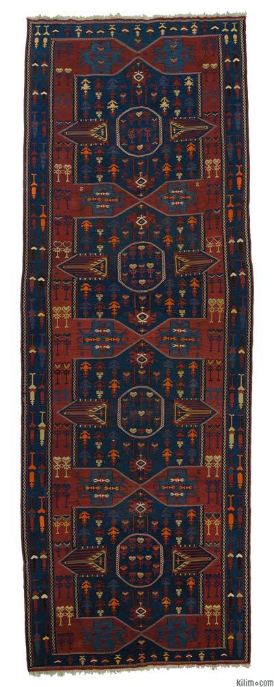 "Antique Avar Kilim Runner - 4' 9"" x 13' 3"" (57 in. x 159 in.)"