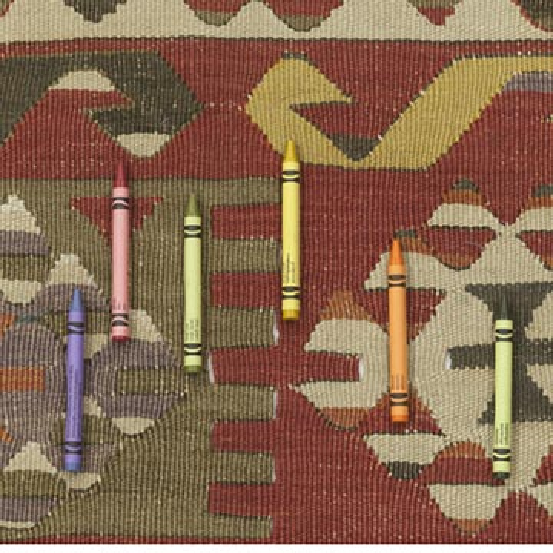 """Multicolor Antique Aydin Kilim Rug - 4' 3"""" x 10' 2"""" (51 in. x 122 in.) - K0007929"""