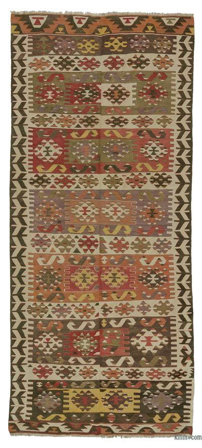 "Antique Aydin Kilim Rug - 4' 3"" x 10' 2"" (51 in. x 122 in.)"
