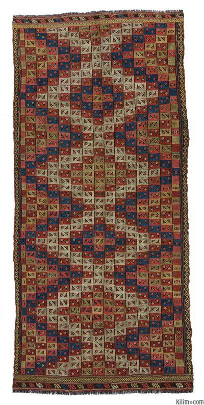 "Antique Konya Jijim Rug - 4' 6"" x 9' 10"" (54 in. x 118 in.)"