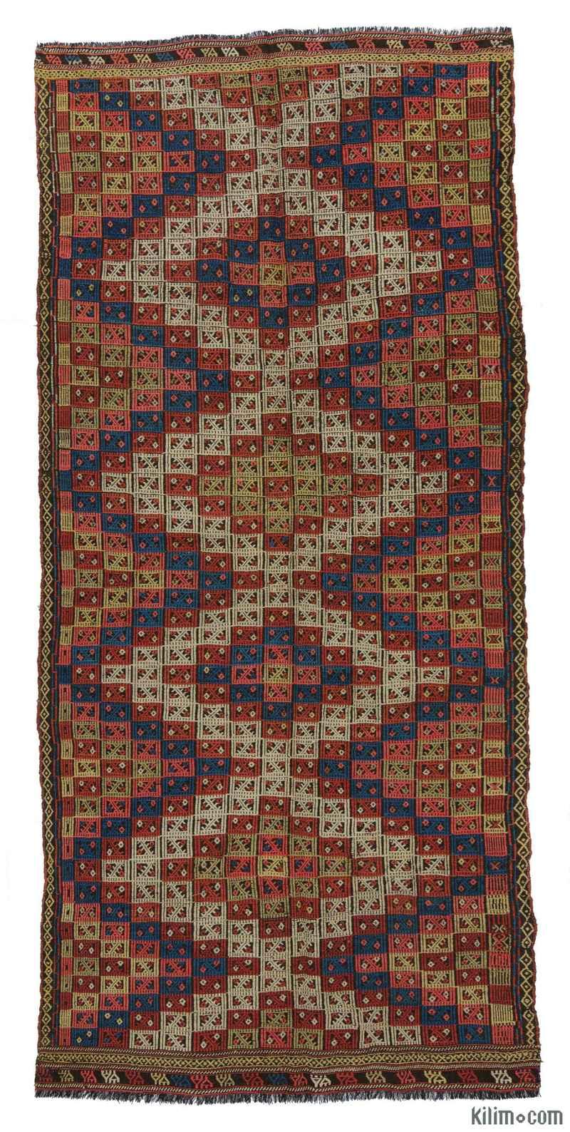 """Antique Konya Jijim Rug - 4' 6"""" x 9' 10"""" (54 in. x 118 in.) - K0007940"""