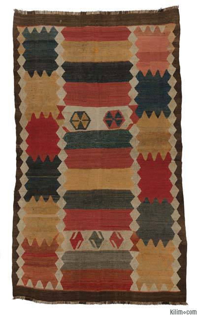 "Antique Tajik Kilim Rug - 5' 3"" x 9' 2"" (63 in. x 110 in.)"