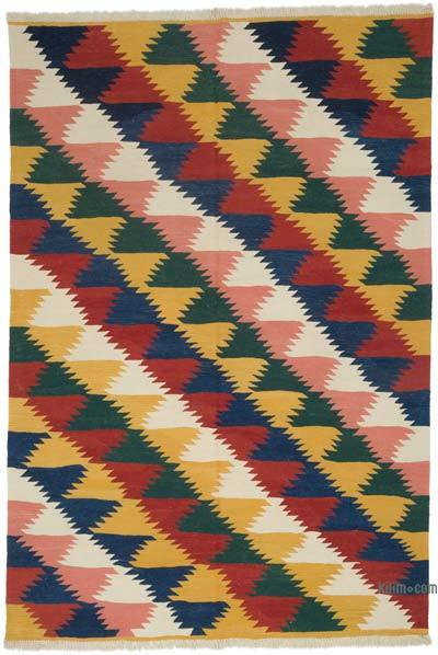 "New Handwoven Turkish Kilim Rug - 6'  x 8' 10"" (72 in. x 106 in.)"