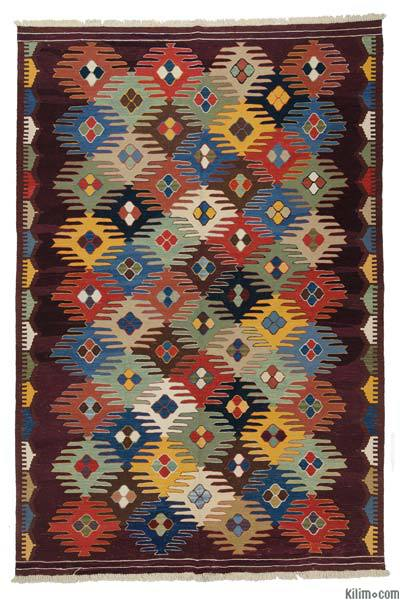 "New Handwoven Turkish Kilim Rug - 6' 9"" x 10'  (81 in. x 120 in.)"