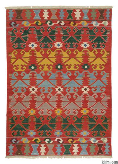 "New Handwoven Turkish Kilim Rug - 6' 1"" x 8' 8"" (73 in. x 104 in.)"