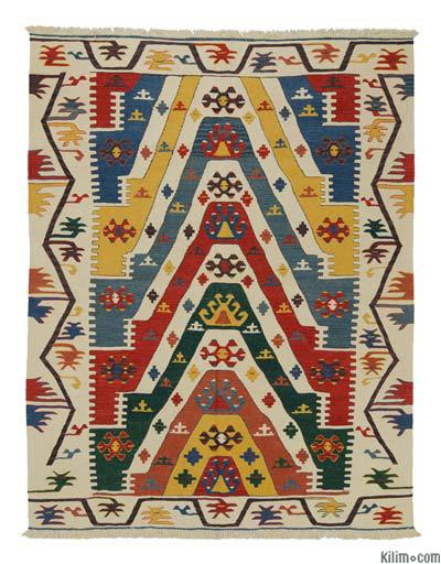 "New Handwoven Turkish Kilim Rug - 5' 11"" x 7' 7"" (71 in. x 91 in.)"