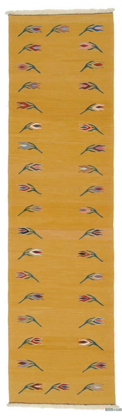 "New Turkish Kilim Runner - 3' 1"" x 11' 2"" (37 in. x 134 in.)"