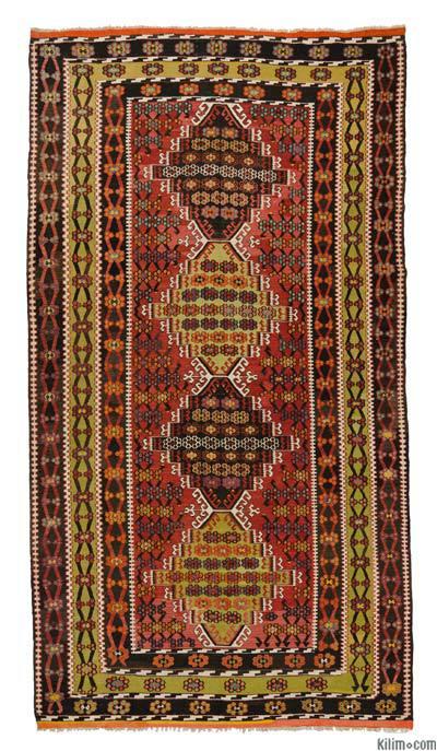Alfombra Vintage Corum Kilim - 206 cm x 379 cm