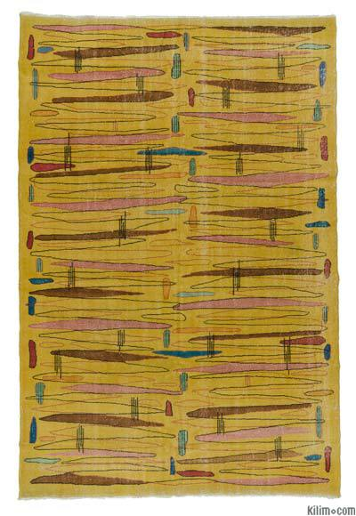 "Retro Vintage Area Rug - 6' 9"" x 10' 2"" (81 in. x 122 in.)"