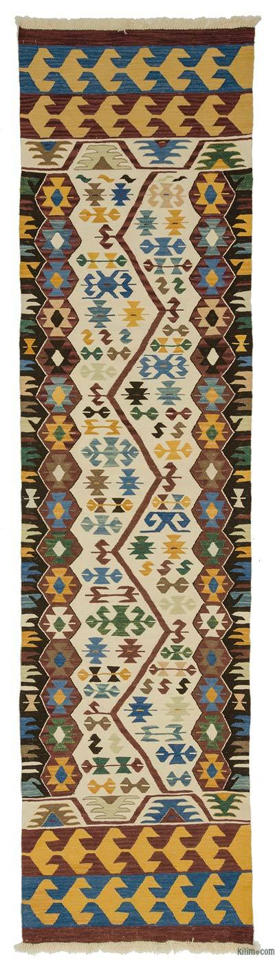 "New Turkish Kilim Runner - 3'1"" x 12' (37 in. x 144 in.)"