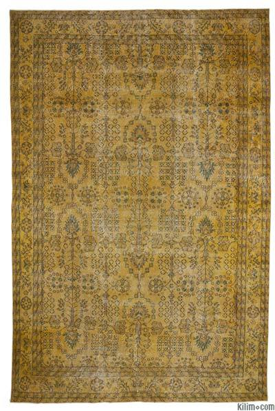 "Over-dyed Anatolian Vintage Rug - 6'11"" x 10'3"" (83 in. x 123 in.)"