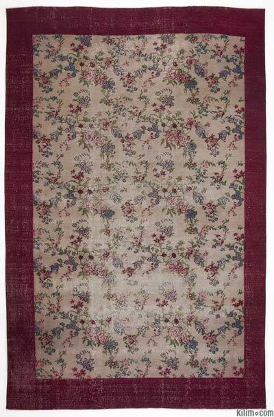 """Turkish Vintage Area Rug - 6'4"""" x 9'11"""" (76 in. x 119 in.)"""