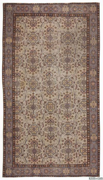 """Turkish Vintage Area Rug - 5'3"""" x 9'5"""" (63 in. x 113 in.)"""
