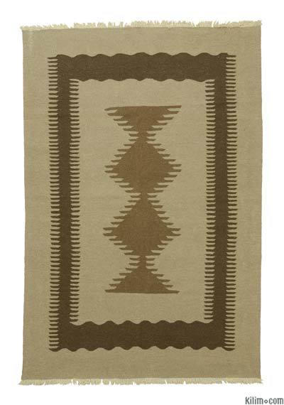 "New Handwoven Turkish Kilim Rug - 5'10"" x 8'8"" (70 in. x 104 in.)"