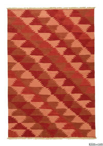 "New Handwoven Turkish Kilim Rug - 6' 1"" x 8' 11"" (73 in. x 107 in.)"