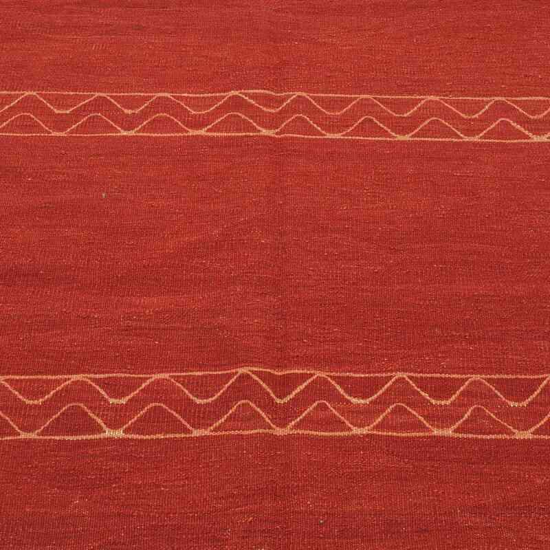 Red New Handwoven Turkish Kilim Rug - K0008667