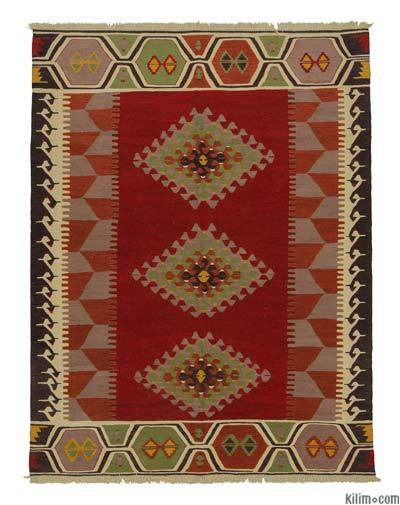 "New Handwoven Turkish Kilim Rug - 5'11"" x 7'10"" (71 in. x 94 in.)"