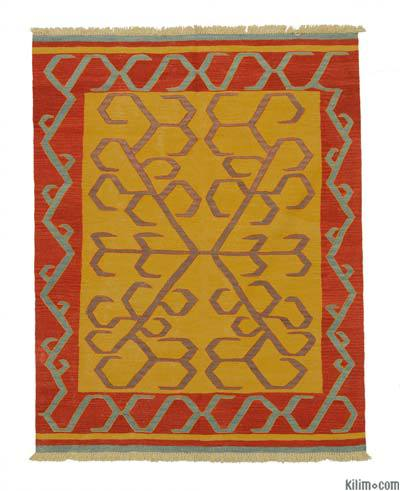 "New Handwoven Turkish Kilim Rug - 5' 1"" x 6' 6"" (61 in. x 78 in.)"