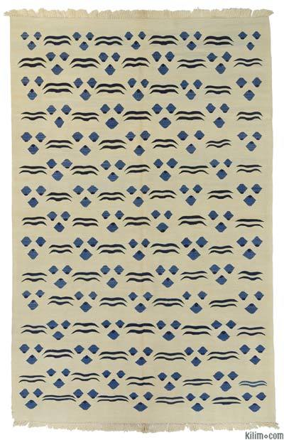 Beige New Handwoven Turkish Kilim Rug