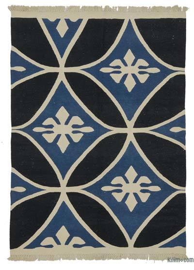 """New Handwoven Turkish Kilim Rug - 5' 1"""" x 6' 11"""" (61 in. x 83 in.)"""