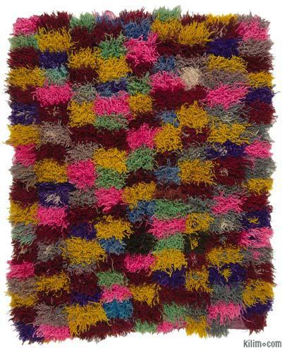 Multicolor Alfombra Turca Vintage Tulu