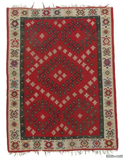 "Antique Sharkoy Kilim Rug - 6' 7"" x 8' 8"" (79 in. x 104 in.)"