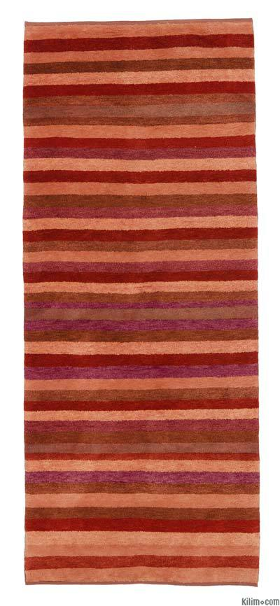 "New Turkish Pile Runner Rug - 2'9"" x 6'11"" (33 in. x 83 in.)"