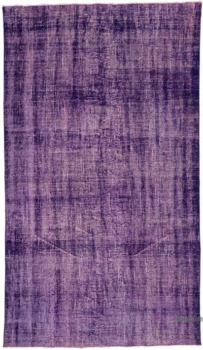 """Over-dyed Turkish Vintage Rug - 5' 1"""" x 8' 11"""" (61 in. x 107 in.)"""