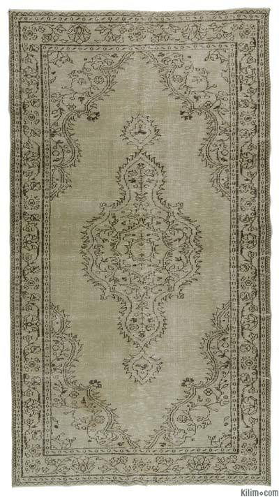 "Over-dyed Turkish Vintage Rug - 4' 11"" x 9'  (59 in. x 108 in.)"