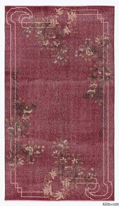 El Dokuma Vintage Halı - 119 cm x 211 cm