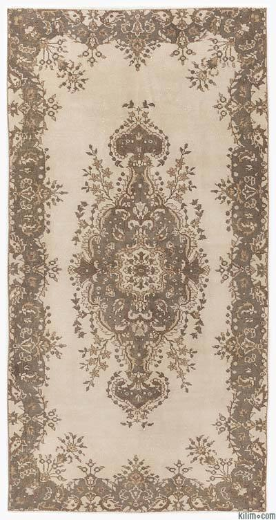 """Over-dyed Turkish Vintage Rug - 3'9"""" x 7'8"""" (45 in. x 92 in.)"""
