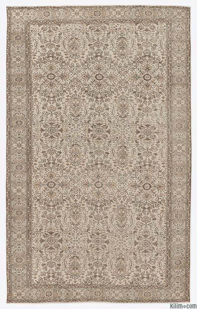 """Over-dyed Turkish Vintage Rug - 6'3"""" x 10'1"""" (75 in. x 121 in.)"""