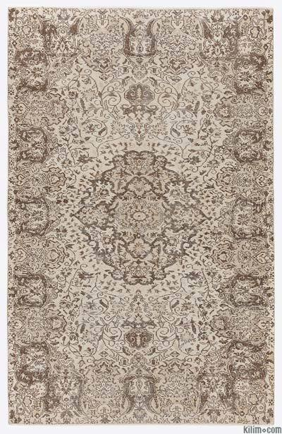 "Over-dyed Turkish Vintage Rug - 5' 8"" x 8' 10"" (68 in. x 106 in.)"