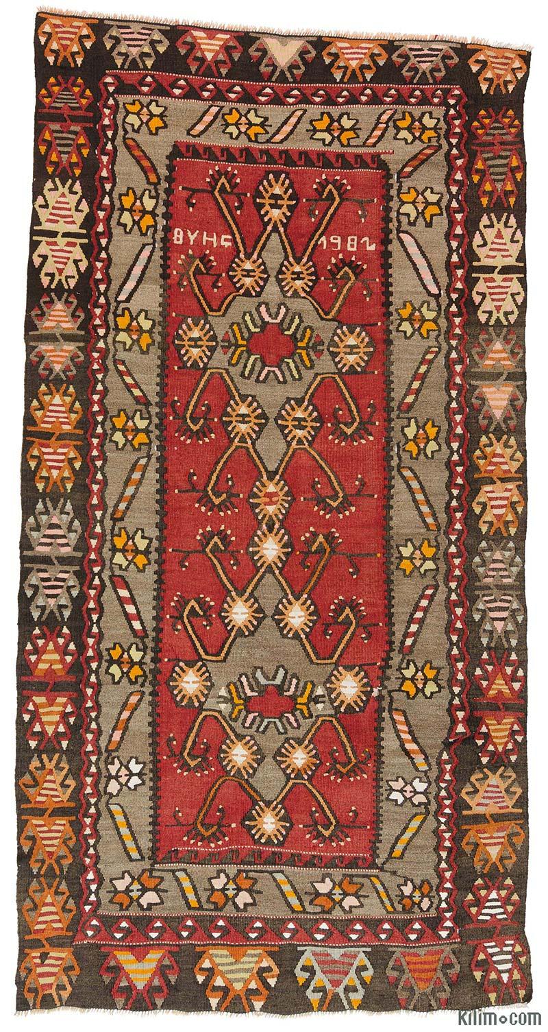 """Vintage Kirsehir Kilim Rug - 3'5"""" x 6'9"""" (41 in. x 81 in.)"""