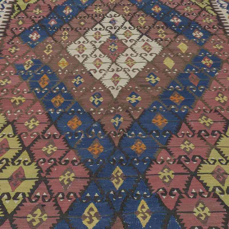 Çok Renkli, Lacivert Sivrihisar Kilimi - 167 cm x 451 cm - K0009715