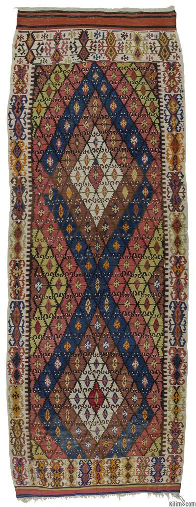 "Antique Sivrihisar Kilim Rug - 5' 6"" x 14' 10"" (66 in. x 178 in.)"