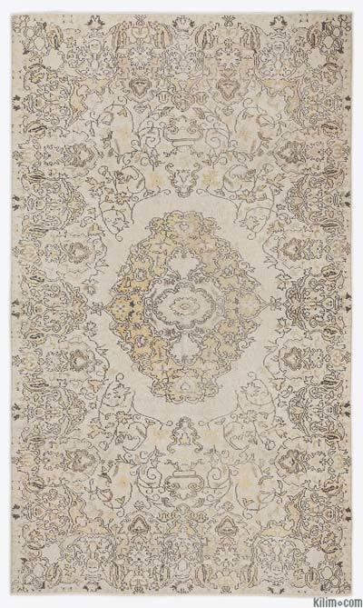 Boyalı El Dokuma Vintage Halı - 168 cm x 283 cm