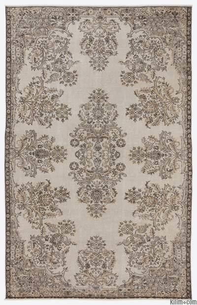 """Over-dyed Turkish Vintage Rug - 6'2"""" x 9'8"""" (74 in. x 116 in.)"""