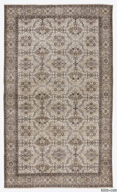 """Over-dyed Turkish Vintage Rug - 5'7"""" x 9'6"""" (67 in. x 114 in.)"""