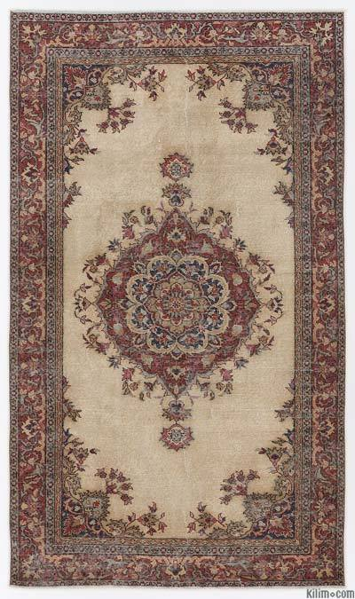 """Turkish Vintage Area Rug - 4'7"""" x 7'10"""" (55 in. x 94 in.)"""