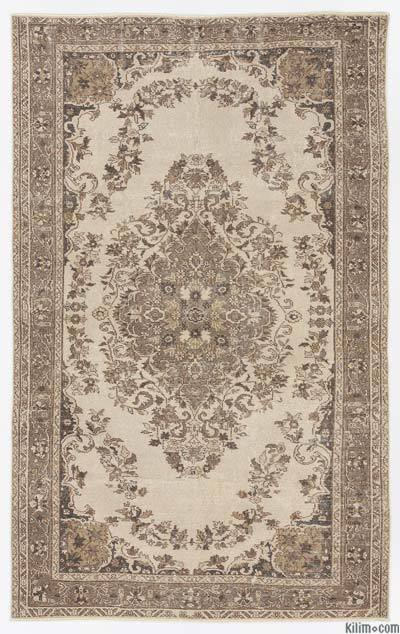 """Over-dyed Turkish Vintage Rug - 5'5"""" x 8'9"""" (65 in. x 105 in.)"""
