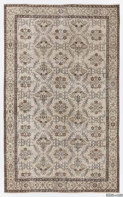 """Over-dyed Turkish Vintage Rug - 5'4"""" x 8'9"""" (64 in. x 105 in.)"""