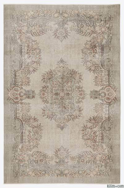 """Over-dyed Turkish Vintage Rug - 6'3"""" x 9'6"""" (75 in. x 114 in.)"""