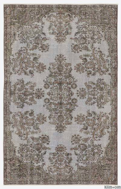 """Over-dyed Turkish Vintage Rug - 5'6"""" x 8'10"""" (66 in. x 106 in.)"""