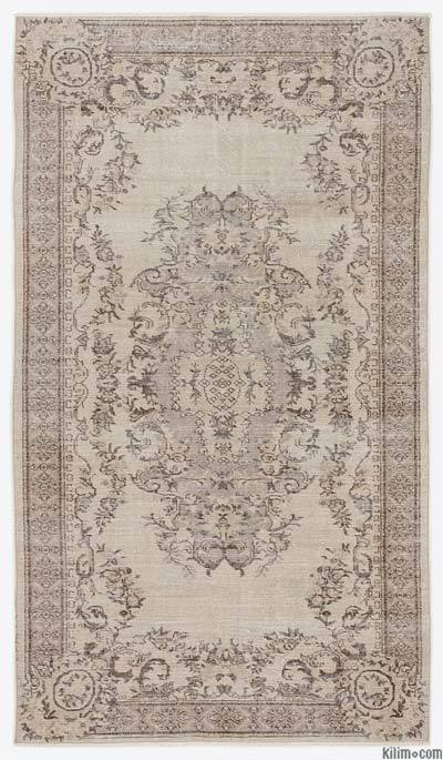 """Over-dyed Turkish Vintage Rug - 5'2"""" x 9'1"""" (62 in. x 109 in.)"""