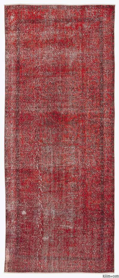 "Over-dyed Turkish Vintage Runner - 4'7"" x 11'3"" (55 in. x 135 in.)"