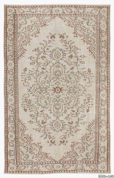 """Over-dyed Turkish Vintage Rug - 5'5"""" x 8'7"""" (65 in. x 103 in.)"""