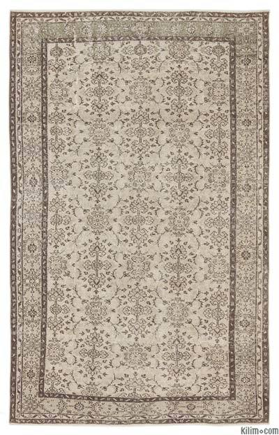"""Over-dyed Turkish Vintage Rug - 6'2"""" x 9'7"""" (74 in. x 115 in.)"""