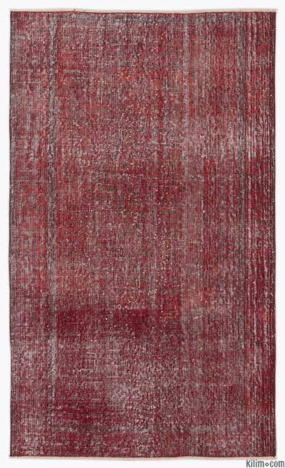 Boyalı El Dokuma Vintage Halı - 115 cm x 192 cm